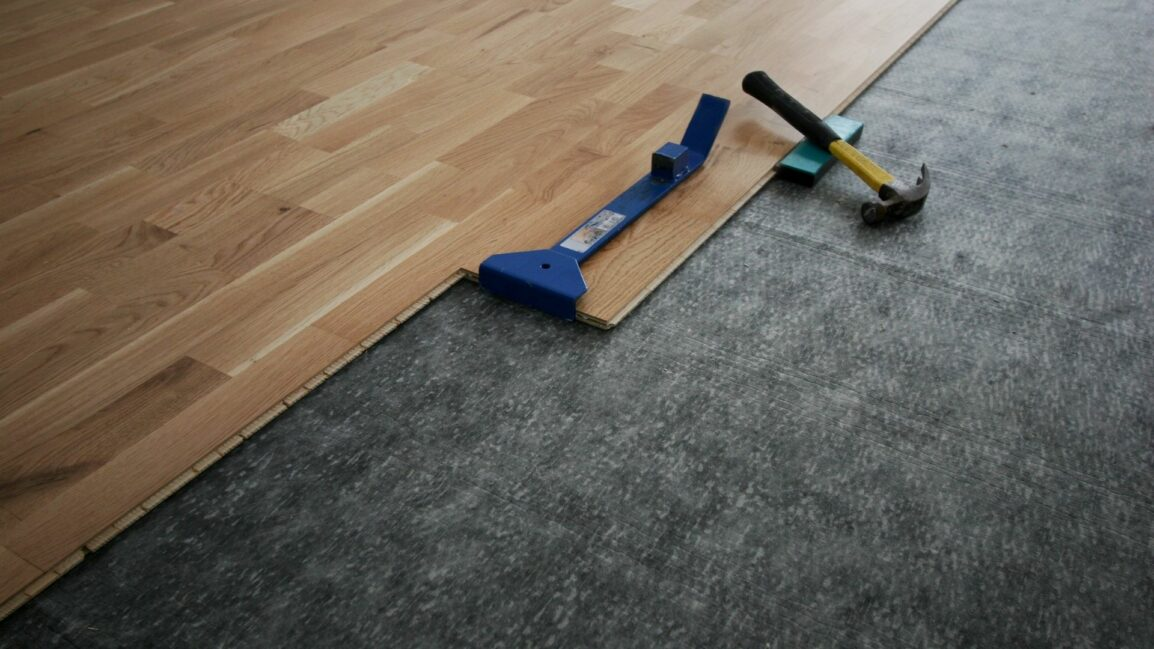 visual image of soundproofing flooring
